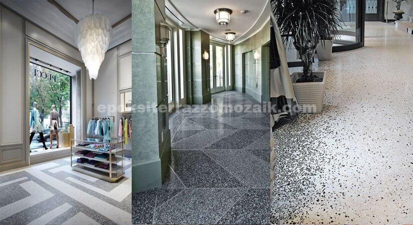 Yerinde Dökme Desenli Mozaik (Terrazzo)