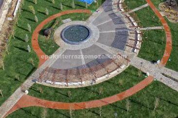 İzmir Büyükşehir Belediyesi Neşet Ertaş Parkı - Dış Zemin Terrazzo
