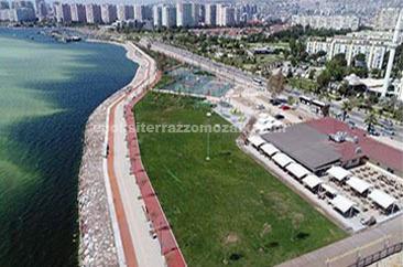 İzmir Büyükşehir Belediyesi Karşıyaka Sahil Projesi - Dış Zemin Terrazzo